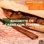Baguette De Carne Con Tomate