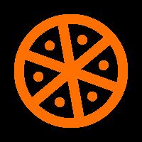 Icono Pizza Naranja